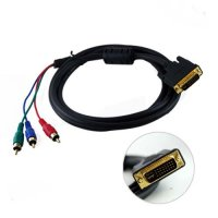 DVI-I Dual Link To 3RCA Cable