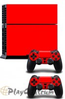 ProSkin Folie Playstation 4 Red PS4